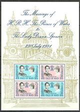 Isle of Man - Hochzeit Charles und Diana Block 5 postfrisch 1981 Mi. 194-195