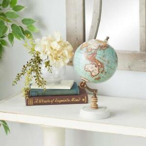 11 in.  Vintage Wooden Mini Globe