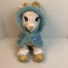 Build-a-Bear Glisten Golden Reindeer w/ Blue Starry Swirl Cape Faux Fur