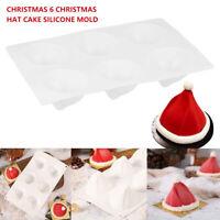 Moule cuisson chapeau Noël 3D moule en silicone au chocolat Cookie Candy Cake DE