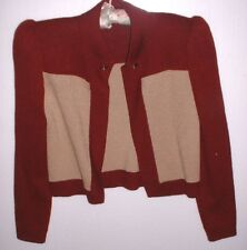 "NICE St John ""S"" Women's Rust & Tan Sweater Small Lord & Taylor"