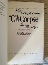 Sue Grafton, C IS FOR CORPSE 1986 HBDJ *Signed & Inscribed* 1ST/2ND NEW! (04C)
