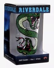 Riverdale Serpents Whyte Wyrm 16oz. Clear Pint Glass