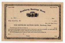 Newburg Savings Bank Stock Certificate