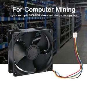 12V 7000RPM 5Blade Mining Machine Cooling Fan 120MM Portable Ventilation Fan SLS