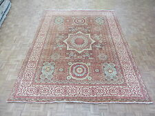 8'10 X 11'10 Hand Knotted Rust Red Mamluk Fine Oriental Rug G4331