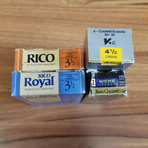 Eb Soprano, Eb Alto, and Bb Bass Clarinet reeds - Various (open boxes)
