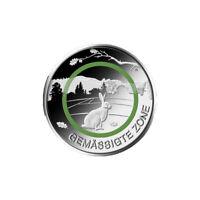 5 EURO Münze Polymerring grün -Gemäßigte Zone- BRD Deutschland -unc. -G- sofort