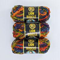 Lion Brand Boucle Hard Candies 3 Skeins 70g 57yd