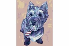 PAINTING BY NUMBERS KIT CAIRN TERRIER T16130068
