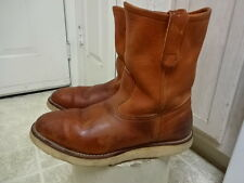 VINTAGE RED WING CREPE SOLE PECOS BOOTS MADE IN USA MEN 8.5 EEE GOOD CONDITION