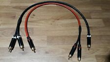 Van Damme - Silver Plated OFC RCA Male y splitter Cable 50cm