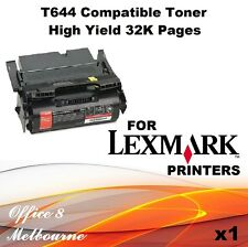 BRAND NEW 1 x Lexmark High Yield Compatible Toner 32K 64037HR T640 T642 T644