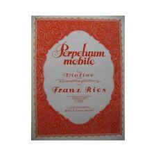 RIES Franz Perpetuum Mobile op 34 No 5 Violon Piano partition sheet music score
