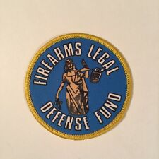 FIREARMS LEGAL DEFENSE FUND PATCH