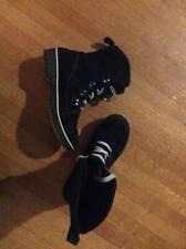 Women Sorel meadow lace boots black US 8