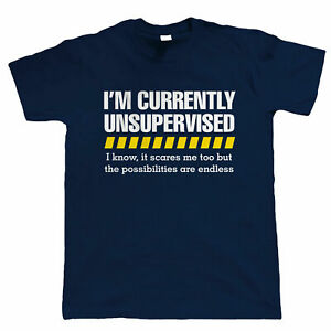 Massive Stock Clearance, Unsupervised, Mens Funny T Shirt