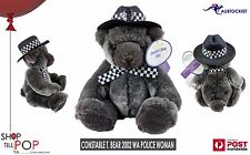 CONSTABLE T BEAR 2002 West Australian Police Woman Grey Blue 30x20cm BNWT MINT