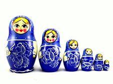 Nesting Dolls Russian Matryoshka Babushka Stacking Wooden Toy New set 6 pcs 4in