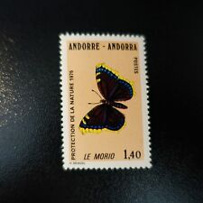 ANDORRA FRENCH N°259 PROTECTION NATURE BUTTERFLIES NEUF MNH