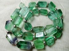 """16"""" Polished hand faceted  open green  Fluorite faceted  Beads  F-3"""