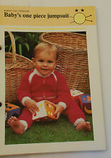 Knitting Pattern DK Baby Bambino One Piece due colore Tuta 46 - 61 cm