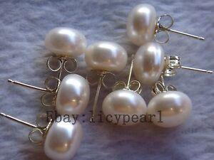 Ohrringe Perlenohrstecker Perle Zirkonia Versilbert Damen