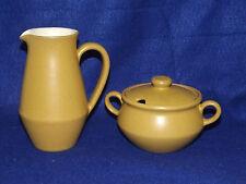 Vintage Denby Langley Ode Creamer & Sugar Stoneware Made In England
