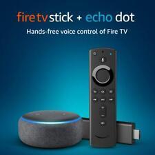 Fire TV Stick with Alexa Voice Remote & Amazon Echo Dot Media Player NEW Bundle