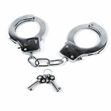 HandCuffs Metal Party Occasion Fun Hen Stag Love Cuffs Kids Policeman Safety Key