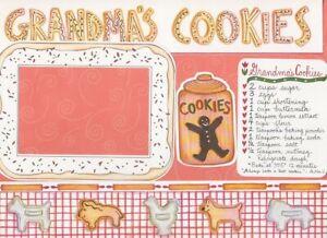 "MME /CADD ""GRANDMA'S COOKIES"" DIE CUT PAGE KIT 12 X 12 FAMILY LOVE"