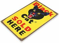 Black Cat Fireworks Retro Tin Metal Sign