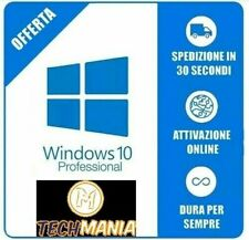 Licenza Windows 10 Pro Professional 32/64 Bit Product Key Full ESD