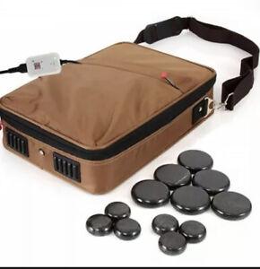 Portable Massage Stone Warmer Set - Electric Spa Hot Stones Massager Heater Kit