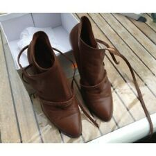 Bottines-Low Boots Cuir Camel P40