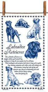 BN Labrador Retriever Dog White Cotton Tea Towel, Labradrador Gift Dog Tea Towel