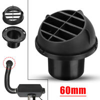 For Car RV Caravan Van 60mm Warm Air Vent Duct Outlet Directional Heater AU