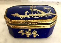 Superbe petite boite à pillules émaux sur cuivre Japonisme 1900 XIXe 19TH