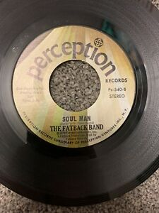 """The Fatback Band """"Njia (Nija) Walk / Soul Man"""" 1973 7"""" US Perception lbl, VG"""