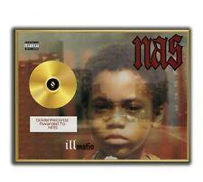 NAS Poster, Illmatic GOLD/PLATINIUM CD, gerahmtes Poster HipHop Rap WallArt