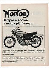Pubblicità 1972 NORTON 750 COMMANDO MOTO MOTOR advertising werbung publicitè