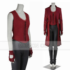 Captain America 3 Civil War Scarlet Witch Wanda Maximoff Cosplay Costume