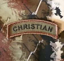 CHRISTIAN ROCKER TAB USA TACTICAL MILITARY MORALE BADGE FOREST VELCRO PATCH