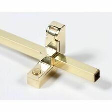 12.5mm Polished Brass Square Stair Rod with Cutting Service Options