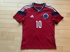 Adidas Colombia Youth Sz L Boys James #10 Jersey Red Rodriguez EUC
