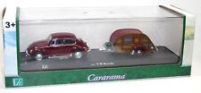 RARITÄT: VW Käfer Modellauto + Caravan Wohnwagen 1:43 NEUWARE Hongwell Cararama