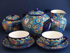 1930s Emaux de Longwy 2 Place Tea Set
