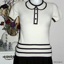 Vive Maria Shirt Angora Pullover Private School S 36 creme beige Baumwolle Neu