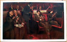 1911 Glamour/Alfred James Dewey/Artist-Signed Postcard-Railroad Car/Long Journey