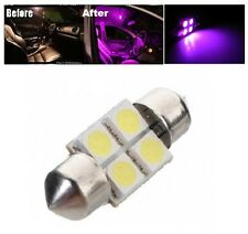"2 x Pink 31mm LED 6428 DE3175 4-SMD 1.25"" Dome Map Festoon Interior Light Bulbs"